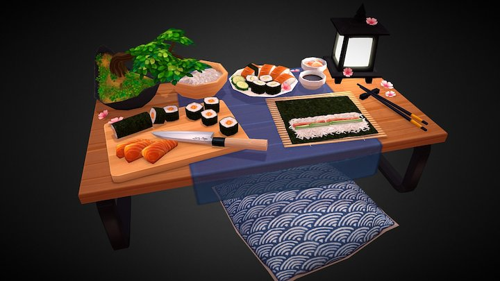 Sushis Party 3D Model
