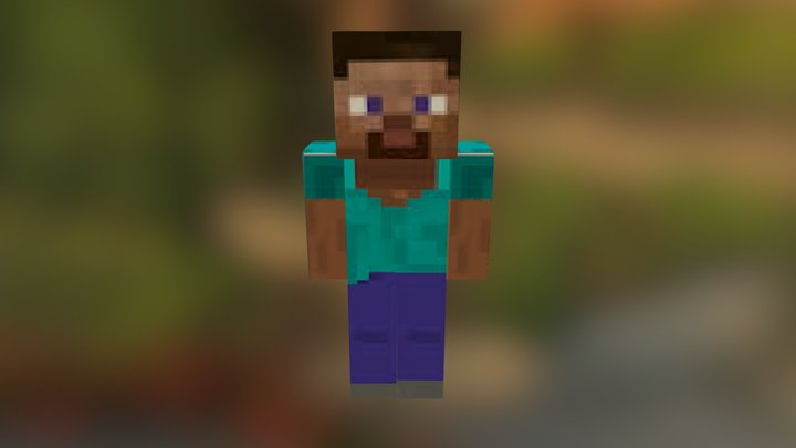 Minecraft Steve 3D Model