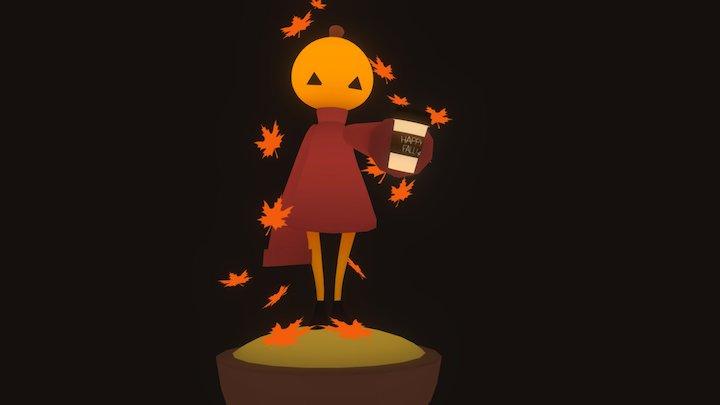 Pumpkin Girl 3D Model
