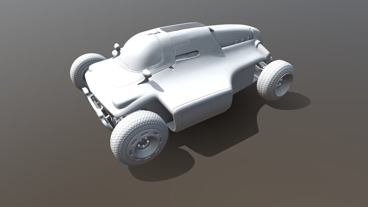 Racing Car wip 01 3D Model