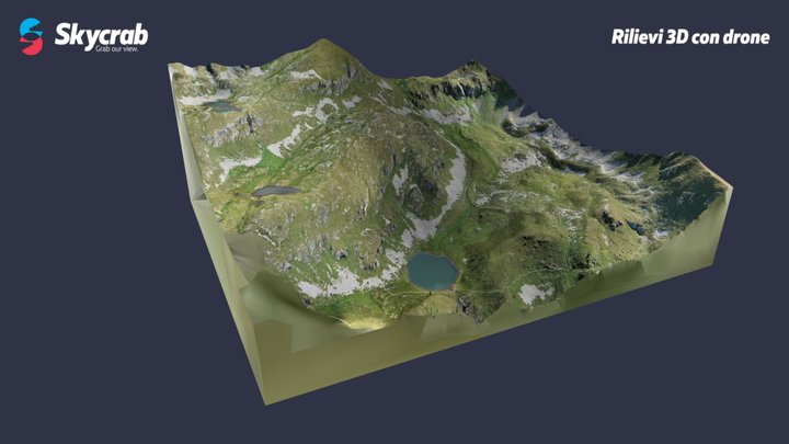 Conca Lago delle Trote - Foppolo (BG) 3D Model