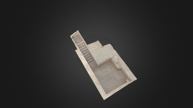 H3000 - Entrance, room & stairs 3D Model