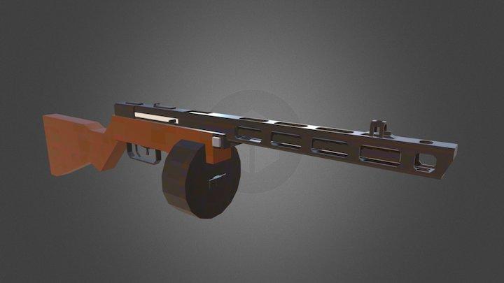 Minecraft - PPsh-41 3D Model