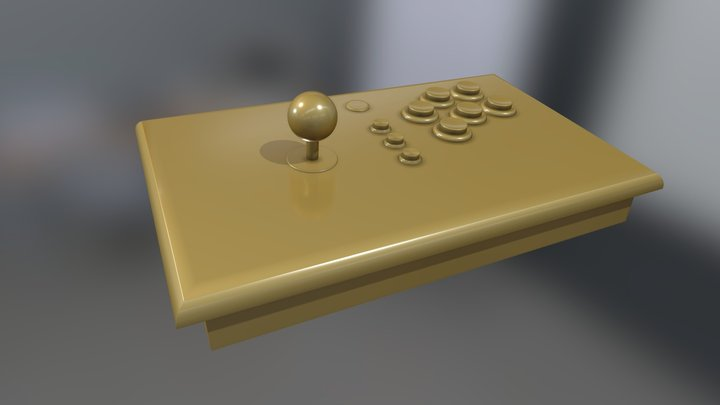 Arcade Game Console 3D Model