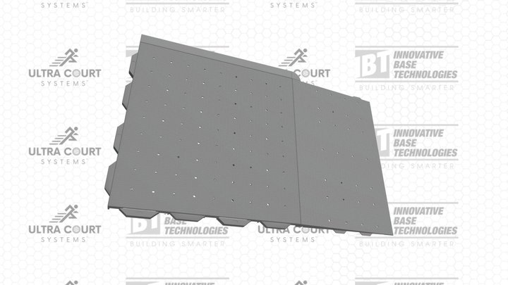 Ultra Court Systems® - Court W/ Side & Ramp 3D Model