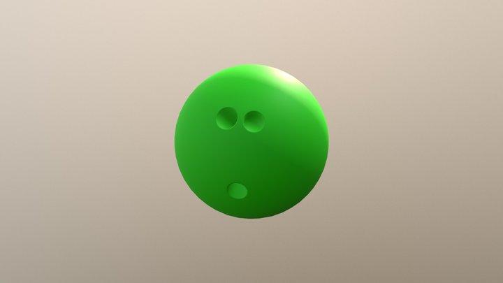 Cartoon Style Bowling Ball 3D Model