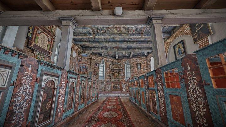 Kościół pw.Matki Bożej Królowej Polski - wnętrze 3D Model