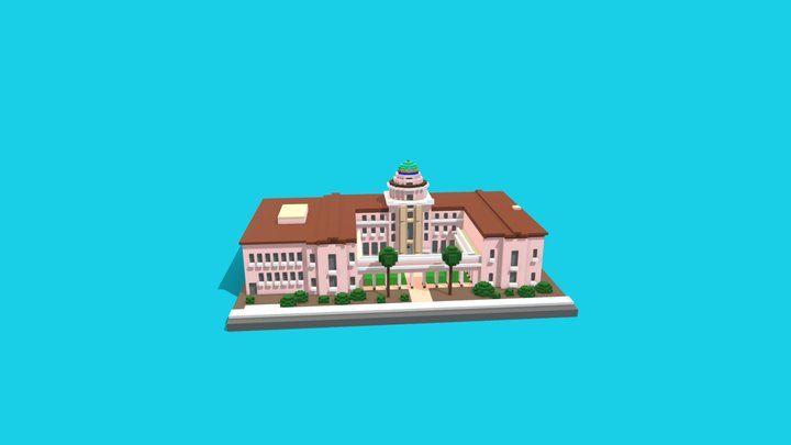 Old PIma County Courthouse 3D Model