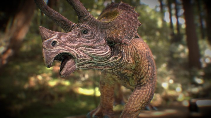 Triceratops MeetUp Demo 3D Model