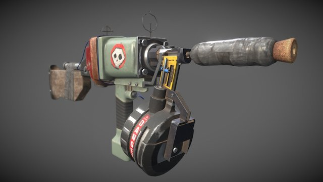 Post Apocalyptic Weapon 3D Model