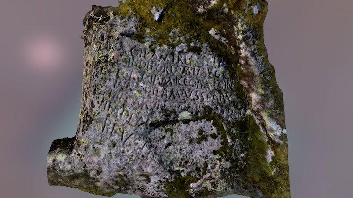 Cabeço das Fráguas Carving Rock 3D Model