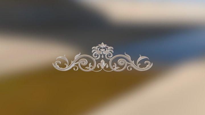 Steel ornament 3D Model