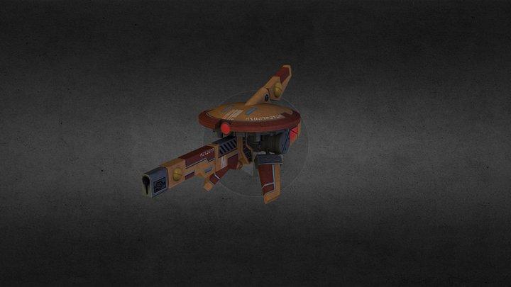 Tau Sniper Drone 3D Model