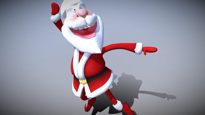3DRT - Crazy Santa - dancing 3D Model