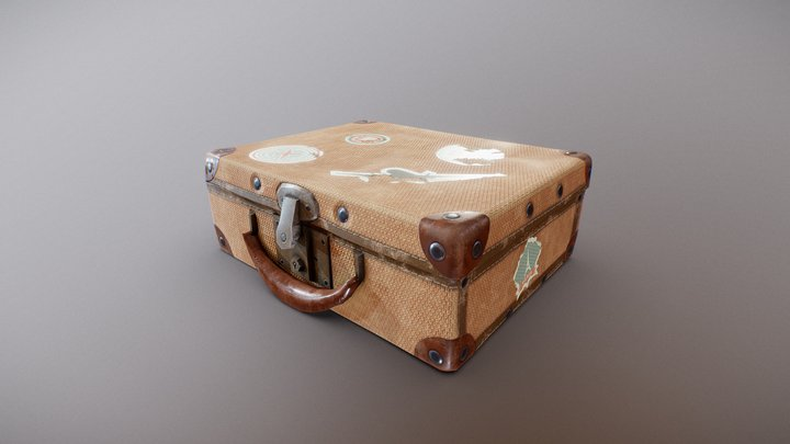 Texturing Suitcase Challenge 3D Model