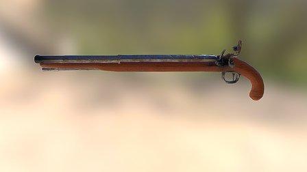 Flintlock Rifle 3D Model
