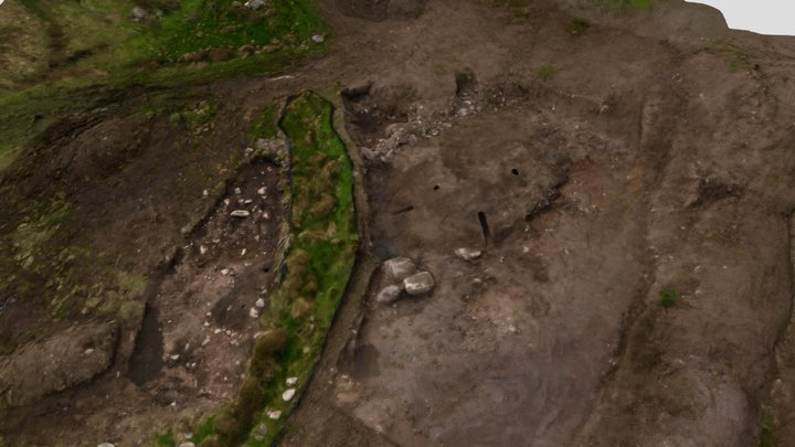 Slievereagh 2 - Excavated Burnt Mound 3D Model