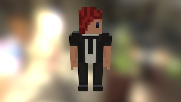 Minecraft Voxel - smallboy 3D Model