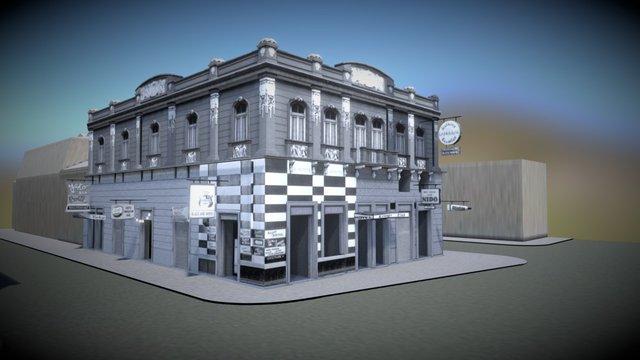 American Bar - Edificio exterior en contexto 3D Model