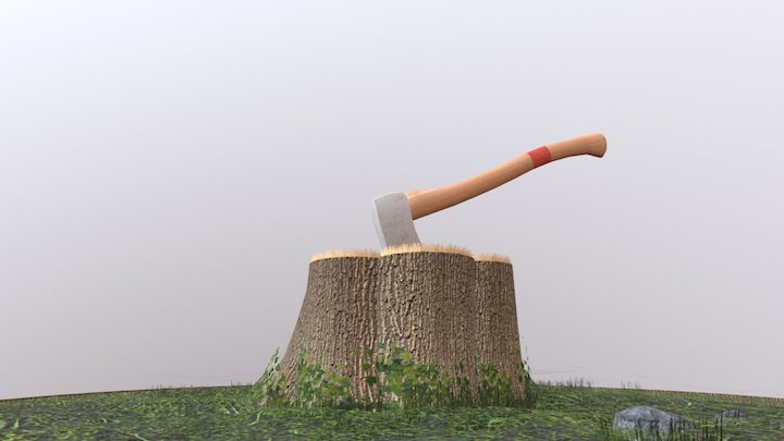 SM Trunk and Axe 3D Model