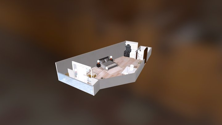 Al Mazra Studio Flat 3D Model