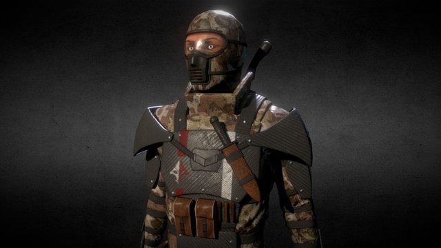 Eikron Soldier 3D Model