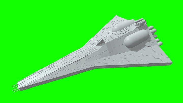 Venominator-Class Light Cruiser (Fan-Made) 3D Model