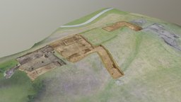 Gamla Uppsala excavation up to 2017 3D Model