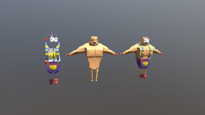 Bunny Wrestler 3D Model
