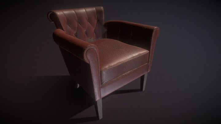 Old Chair Highpoly 3D Model