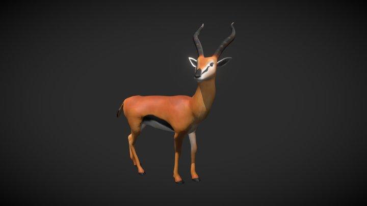 Paula the Antelope 3D Model