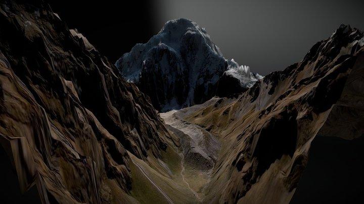 Nevado Salkantay, Peru, 6271 m 3D Model