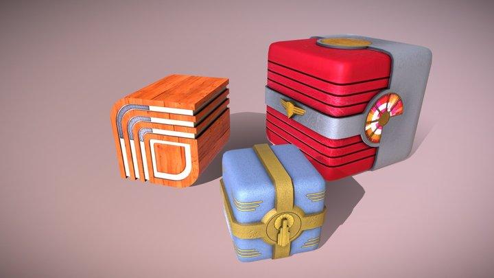 Art Deco Crates 3D Model