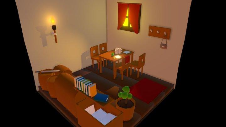 Very little interior 3D Model