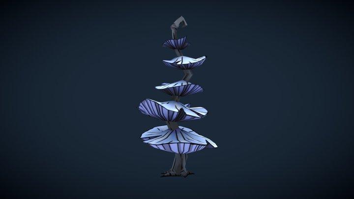Blue Mushtree 3D Model