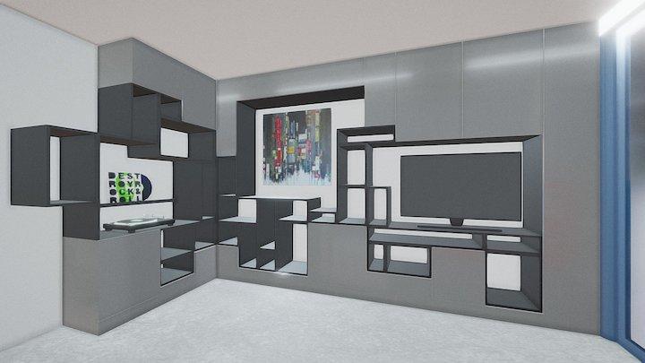 Un salon pour Marion, b&w version 3D Model