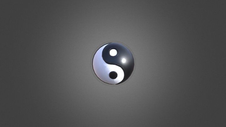 Yin & Yang Sculpture 3D Model