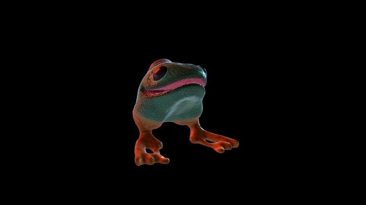 Cursed Frog_Attack 3D Model