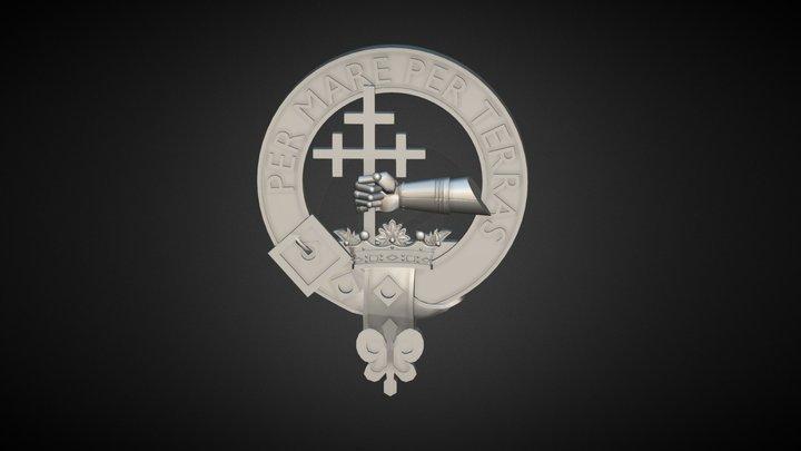 Clan Donald Crest 3D Model