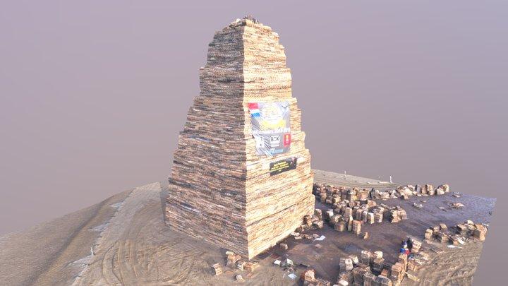 Brandstapel Scheveningen 31-12-2018 3D Model