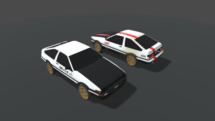 Toyota Corolla Sprinter Trueno AE86 3D Model