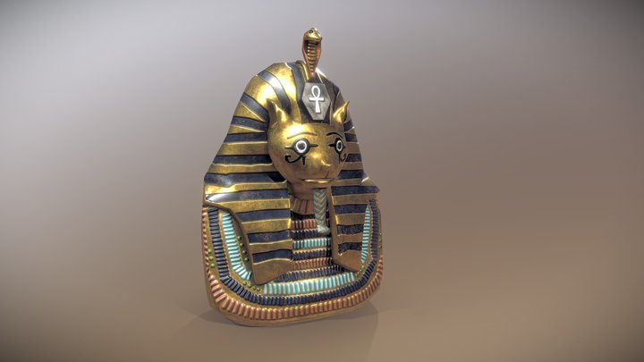 Mask of TutanCatmun - Ancient Artifact Challenge 3D Model