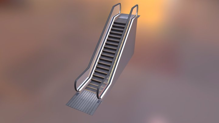 My first escalator 3D Model