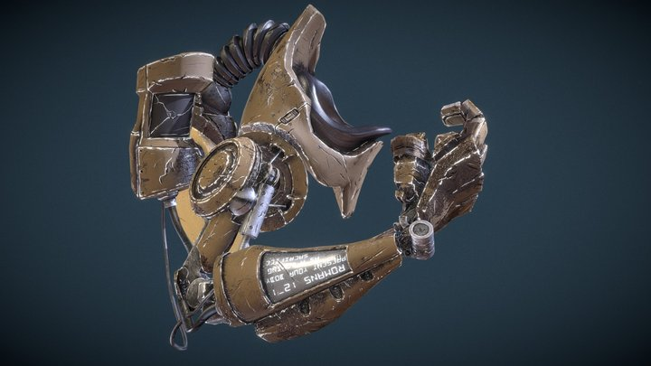 Noch Cyborg Arm Animate Test for Project Husk 3D Model