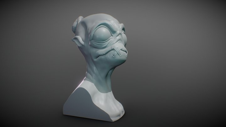Abe's Oddysee Bust 3D Model