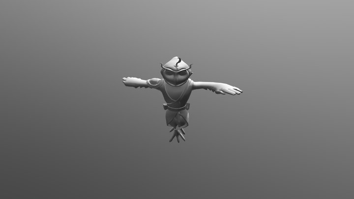 Owl Scout Animations 3D Model