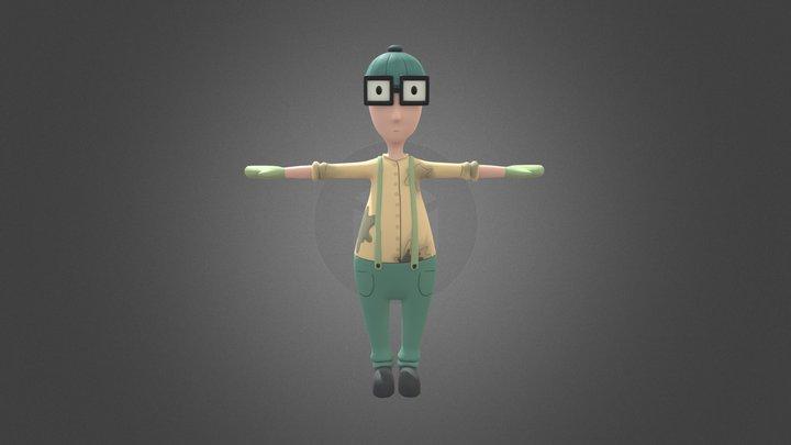 Nerdy Scientist 3D Model