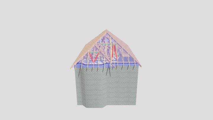 P11760J Roof Trusses 14 Welsdene Rd 3D Model
