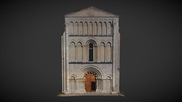 Abbey N-D of Châtre, Saint-Brice, Charente 3D Model