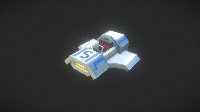 Kart grey - Hypixel Turbo Kart Racers Game 3D Model